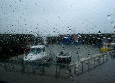 Another harbour... in the rain!