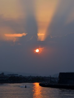 Summer Solstice 2017 sunset as seen from Arklow, Co Wicklow, Ireland
