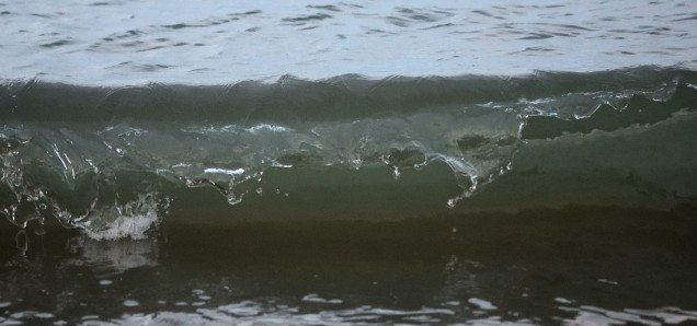 The Lip - Wave motion, sunset at The Cove, Arklow, Co Wicklow, Ireland