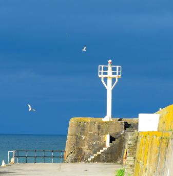 Neptune's trident? No... the light at the end of the Arklow pier... Co Wicklow, Ireland