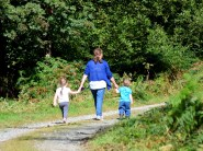 ONG wood walking the two little darlings...