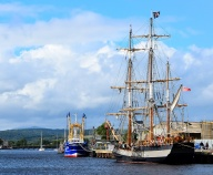 Just seeing this tall ship is enough to recreate memories of past glory! The Earl of Pembroke moored in Arklow, Co Wicklow, Ireland - sailing pleasure!