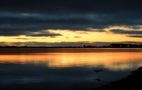 Malahide Estuary sunrise... late September. The heron adds a focal point... even if offset just a tad!