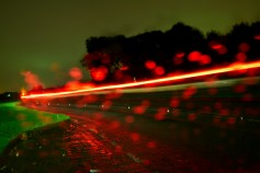 Ten sec exposure... rain and car lights...