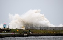 The Arklow Breakwater!! The effects of Storm Ophelia's effects! 16 Oct 2017!