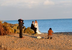 November beach wedding photography in Ireland? Not such a good idea!