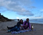 Cosy fun!! On a winter's beach!!
