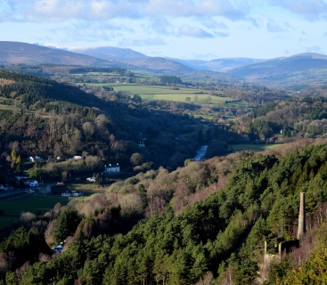 The Vale of Avoca, winter view... as seen from the Miners Cross