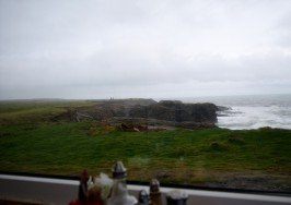 The cliffs to the east of the Hook Lighthouse... as seen from the restaurant...