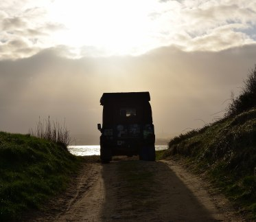 Love thy Landy!! Somewhere on a beach in Co Wexford... BLISS!!