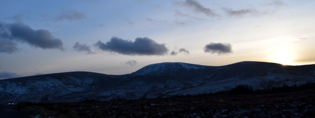 Look to the left... the Wicklow Mountains... Ireland!