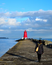 Strolling... GLW heading for Poolbeg Lighthouse...
