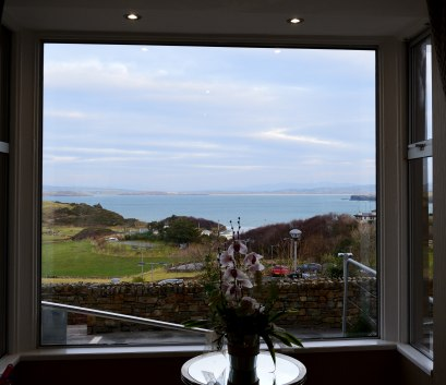 The view from the Shandon Hotel... Co Donegal... very far north in Ireland!