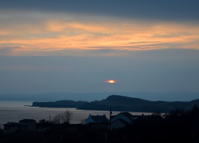 Sunrise over Sheephaven Bay... from our hotel window...