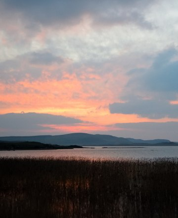 Donegal sunset splendour... 23 Fed 2018 - across the New Lake, Dunfanaghy - wide open spaces!
