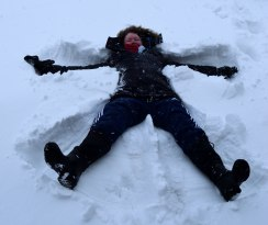 My perfect snow angel... 02 March 2018, Arklow, Co Wicklow... happy spring!!!!