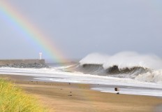 The rainbow after Storm Ophelia... she was some unpleasant banshee bitch!