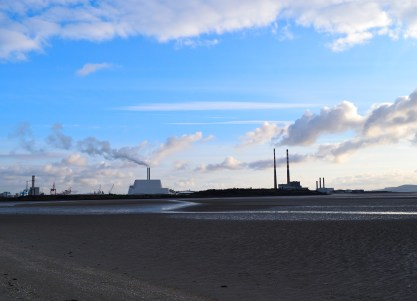 The Poolbeg Chineys and the new incinerator... equally sexy? I wonder?