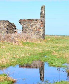 Past reflections - the ruins at Kilmichael Point, Co Wexford, Ireland
