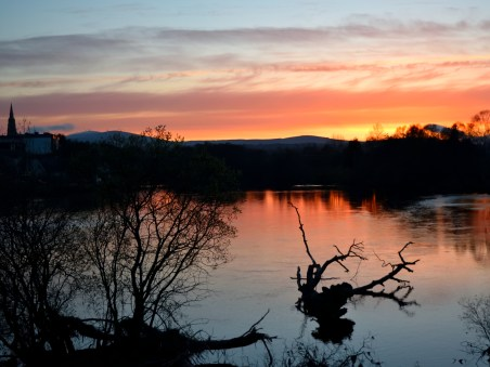 The unparalleled beauty of the spring sunset... over the Avoca river, Arklow, Co Wicklow.