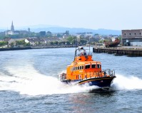 Arklow RNLI Lifeboat leaving the port... on route to the assistance of someone in need!