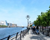 Segways along the Liffey - hot summer's day...