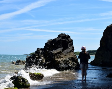 Watch that wave!!! Out along the wild Irish Sea coast... the summer does strange things to the head... especially during a heatwave!!