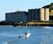 New surfing destination on the international scene? I think not! The Silos, Arklow, Co Wicklow, Ireland