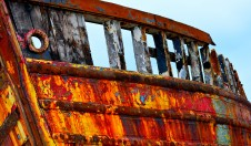 Paint and age... on this old boat I think it's age that will win??
