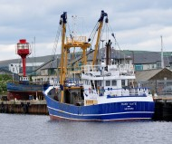 Blue hull - fishing vessel moored in Arklow - another Mary Kate!