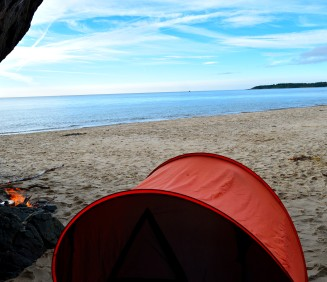 The view out from behind our lil tent...