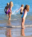 Small is beautiful... grand kids - happy at the beach!