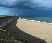 Arklow Breakwater... sun, sea and storm! All beach action!