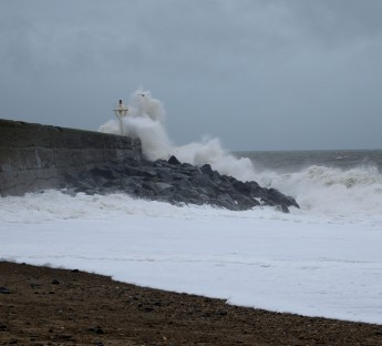 The Arklow Breakwater just after Storm Callum... still taking a pounding!