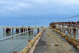 The old loading Jetty... as seen through the locked gate!