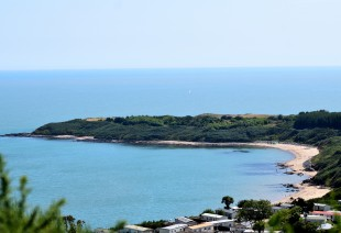 A view to the south... beaches and holiday parks... summer bliss!