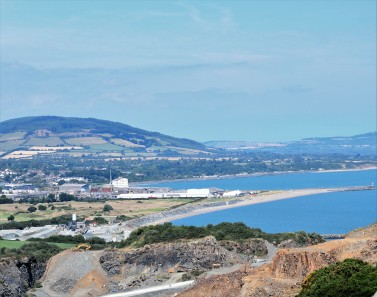 More Arklow landmarks... the old gypsum factory and the breakwater...