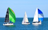 Autumn sailing in Arklow Bay - green and blue