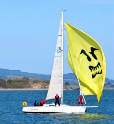 Autumn sailing in Arklow Bay - cross - grrrr!!