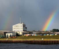 Rainbow... and the chocolate factory! Arklow autumn showers!