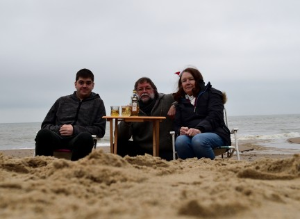 Bushmills on the beach!! An Irish tradition?? Who knows? Christmas day 2018
