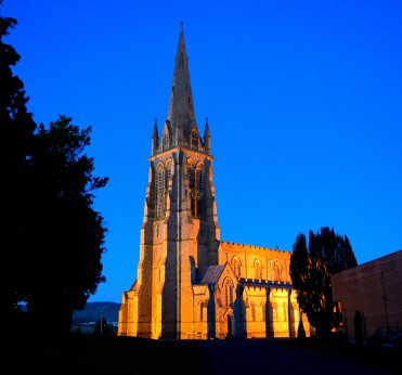 Arklow's St Saviours Church - Impressive in the twilight!