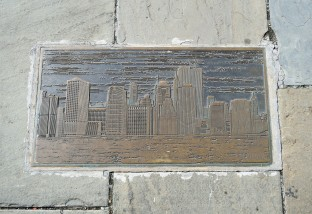 One of the plaques at the Brooklyn Promenade...